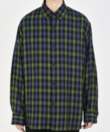 <img class='new_mark_img1' src='https://img.shop-pro.jp/img/new/icons49.gif' style='border:none;display:inline;margin:0px;padding:0px;width:auto;' />LAD MUSICIAN <BR>TWILL GUN CLUB CHECK BIG SHIRT (GREEN×PURPLE) SOLD OUT