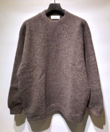 <img class='new_mark_img1' src='https://img.shop-pro.jp/img/new/icons49.gif' style='border:none;display:inline;margin:0px;padding:0px;width:auto;' />MARKAWARE <BR>WOOL SHEEP PILE CREW NECK (TOP BROWN) SOLD OUT