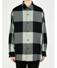 <img class='new_mark_img1' src='https://img.shop-pro.jp/img/new/icons49.gif' style='border:none;display:inline;margin:0px;padding:0px;width:auto;' />LAD MUSICIAN <BR>COTTON FLANNEL BUFFALO CHECK BIG SHIRT(DARK MINT×BLACK) SOLD OUT
