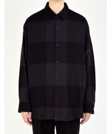 <img class='new_mark_img1' src='https://img.shop-pro.jp/img/new/icons49.gif' style='border:none;display:inline;margin:0px;padding:0px;width:auto;' />LAD MUSICIAN <BR>COTTON FLANNEL BUFFALO CHECK BIG SHIRT(PURPLE BLACK×BLACK) SOLD OUT