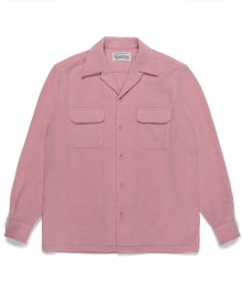 <img class='new_mark_img1' src='https://img.shop-pro.jp/img/new/icons49.gif' style='border:none;display:inline;margin:0px;padding:0px;width:auto;' />WACKOMARIA<BR> WOOL OPEN COLLAR SHIRT (PINK) SOLD OUT