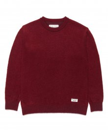 <img class='new_mark_img1' src='https://img.shop-pro.jp/img/new/icons49.gif' style='border:none;display:inline;margin:0px;padding:0px;width:auto;' />WACKOMARIA<BR> MOHAIR CREW NECK SWEATER (BURGUNDY) SOLD OUT