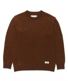 <img class='new_mark_img1' src='https://img.shop-pro.jp/img/new/icons49.gif' style='border:none;display:inline;margin:0px;padding:0px;width:auto;' />WACKOMARIA<BR> MOHAIR CREW NECK SWEATER (BROWN) SOLD OUT