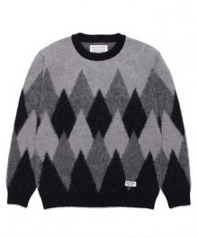 <img class='new_mark_img1' src='https://img.shop-pro.jp/img/new/icons49.gif' style='border:none;display:inline;margin:0px;padding:0px;width:auto;' />WACKOMARIA<BR> DIAMOND MOHAIR CREW NECK SWEATER SOLD OUT