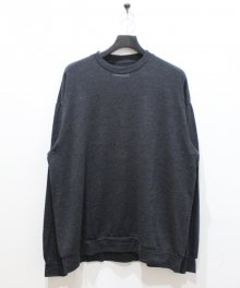<img class='new_mark_img1' src='https://img.shop-pro.jp/img/new/icons49.gif' style='border:none;display:inline;margin:0px;padding:0px;width:auto;' />MARKAWARE <BR>CREW NECK -SUPER 120'S WOOL SWITZER KNIT (CHARCOAL) SOLD OUT