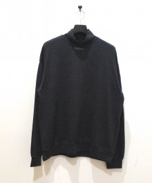 <img class='new_mark_img1' src='https://img.shop-pro.jp/img/new/icons49.gif' style='border:none;display:inline;margin:0px;padding:0px;width:auto;' />MARKAWARE <BR>MOCK NECK SUPER 120'S WOOL SWITZER KNIT (CHARCOAL) SOLD OUT