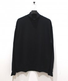 <img class='new_mark_img1' src='https://img.shop-pro.jp/img/new/icons49.gif' style='border:none;display:inline;margin:0px;padding:0px;width:auto;' />MARKAWARE <BR>MOCK NECK SUPER 120'S WOOL SWITZER KNIT (BLACK) SOLD OUT