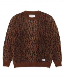 <img class='new_mark_img1' src='https://img.shop-pro.jp/img/new/icons49.gif' style='border:none;display:inline;margin:0px;padding:0px;width:auto;' />WACKOMARIA<BR> LEOPARD MOHAIR CREW NECK SWEATER SOLD OUT