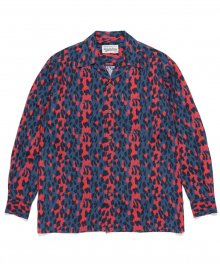 <img class='new_mark_img1' src='https://img.shop-pro.jp/img/new/icons49.gif' style='border:none;display:inline;margin:0px;padding:0px;width:auto;' />WACKOMARIA<BR> HAWAIIAN SHIRT L/S ( TYPE-2 ) ( BLUE )【SOLD OUT】
