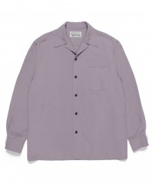 <img class='new_mark_img1' src='https://img.shop-pro.jp/img/new/icons49.gif' style='border:none;display:inline;margin:0px;padding:0px;width:auto;' />WACKOMARIA<BR> CHECK OPEN COLLAR SHIRT L/S (PURPLE)SOLD OUT