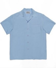 <img class='new_mark_img1' src='https://img.shop-pro.jp/img/new/icons49.gif' style='border:none;display:inline;margin:0px;padding:0px;width:auto;' />WACKOMARIA<BR> 50'S SHIRT S/S ( TYPE-1 ) (BLUE)【SOLD OUT】