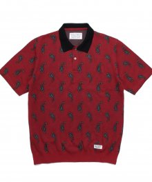 <img class='new_mark_img1' src='https://img.shop-pro.jp/img/new/icons49.gif' style='border:none;display:inline;margin:0px;padding:0px;width:auto;' />WACKOMARIA<BR> PAISLEY KNIT PORO SHIRT SOLD OUT