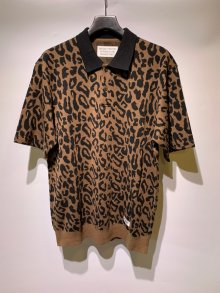 <img class='new_mark_img1' src='https://img.shop-pro.jp/img/new/icons49.gif' style='border:none;display:inline;margin:0px;padding:0px;width:auto;' />WACKOMARIA<BR> LEOPARD KNIT PORO SHIRT SOLD OUT