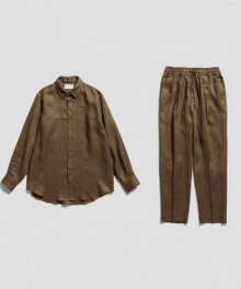 <img class='new_mark_img1' src='https://img.shop-pro.jp/img/new/icons49.gif' style='border:none;display:inline;margin:0px;padding:0px;width:auto;' />marka <BR>W COLLAR SHIRT&PEGTOP EASY TROUSERS - 100% HEMP - SOLD OUT