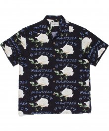 <img class='new_mark_img1' src='https://img.shop-pro.jp/img/new/icons49.gif' style='border:none;display:inline;margin:0px;padding:0px;width:auto;' />WACKOMARIA<BR> HAWAIIAN SHIRT S/S ( TYPE-3 ) (BLACK) SOLD OUT
