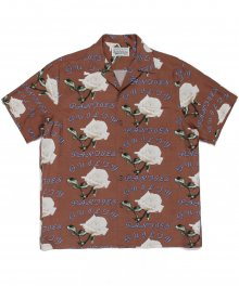 <img class='new_mark_img1' src='https://img.shop-pro.jp/img/new/icons49.gif' style='border:none;display:inline;margin:0px;padding:0px;width:auto;' />WACKOMARIA<BR> HAWAIIAN SHIRT S/S ( TYPE-3 ) (BROWN) SOLD OUT