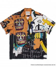 <img class='new_mark_img1' src='https://img.shop-pro.jp/img/new/icons49.gif' style='border:none;display:inline;margin:0px;padding:0px;width:auto;' />WACKOMARIA<BR> JEAN-MICHEL BASQUIAT / S/S HAWAIIAN SHIRT ( TYPE-4 )SOLD OUT