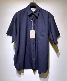 MARKAWARE <BR> COMFORT FIT SHIRT S/S - SUPER 120's WOOL TROPICAL - (INDIGO) SOLD OUT<img class='new_mark_img2' src='https://img.shop-pro.jp/img/new/icons49.gif' style='border:none;display:inline;margin:0px;padding:0px;width:auto;' />