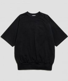 <img class='new_mark_img1' src='https://img.shop-pro.jp/img/new/icons8.gif' style='border:none;display:inline;margin:0px;padding:0px;width:auto;' />marka <BR> CREW NECK S/S - 50/- COMPACT KNIT - (BLACK)