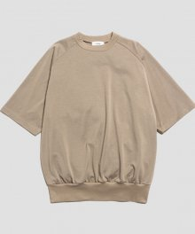 <img class='new_mark_img1' src='https://img.shop-pro.jp/img/new/icons8.gif' style='border:none;display:inline;margin:0px;padding:0px;width:auto;' />marka <BR> CREW NECK S/S - 50/- COMPACT KNIT - (BEIGE)