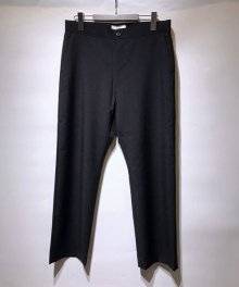 <img class='new_mark_img1' src='https://img.shop-pro.jp/img/new/icons8.gif' style='border:none;display:inline;margin:0px;padding:0px;width:auto;' />marka <BR>STRAIGHT FIT EASY TROUSERS - WOOL MOHAIR TROPICAL - (BLACK)