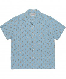 <img class='new_mark_img1' src='https://img.shop-pro.jp/img/new/icons49.gif' style='border:none;display:inline;margin:0px;padding:0px;width:auto;' />WACKOMARIA<BR> HAWAIIAN SHIRT S/S ( TYPE-11 ) (TURQUOISE) SOLD OUT
