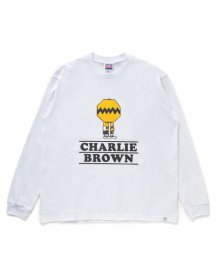 """<img class='new_mark_img1' src='https://img.shop-pro.jp/img/new/icons49.gif' style='border:none;display:inline;margin:0px;padding:0px;width:auto;' />BEDWIN <BR>L/S PRINT TEE""""CHARLIE BROWN"""" (WHITE) SOLD OUT"""