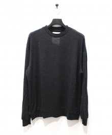 <img class='new_mark_img1' src='https://img.shop-pro.jp/img/new/icons8.gif' style='border:none;display:inline;margin:0px;padding:0px;width:auto;' />MARKAWARE <BR>CREW NECK WOOL TEE - Super 120's Wool Switzer KNIT -(CHARCOAL)