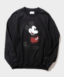 <img class='new_mark_img1' src='https://img.shop-pro.jp/img/new/icons8.gif' style='border:none;display:inline;margin:0px;padding:0px;width:auto;' />DELUXE <BR> DELUXE x Disney Crew neck sweat (BLACK)