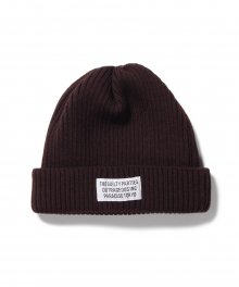 <img class='new_mark_img1' src='https://img.shop-pro.jp/img/new/icons8.gif' style='border:none;display:inline;margin:0px;padding:0px;width:auto;' />WACKOMARIA<BR> WOOL KNIT WATCH CAP ( TYPE-1 ) (BROWN)