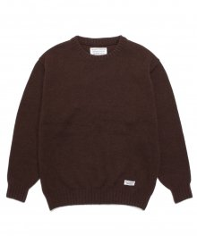 <img class='new_mark_img1' src='https://img.shop-pro.jp/img/new/icons8.gif' style='border:none;display:inline;margin:0px;padding:0px;width:auto;' />WACKOMARIA<BR> CLASSIC CREW NECK SWEATER (BROWN)