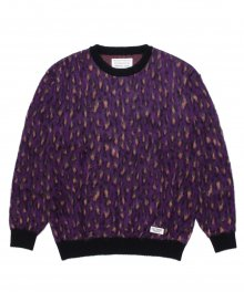 <img class='new_mark_img1' src='https://img.shop-pro.jp/img/new/icons49.gif' style='border:none;display:inline;margin:0px;padding:0px;width:auto;' />WACKOMARIA<BR> LEOPARD MOHAIR CREW NECK SWEATER ( TYPE-1 ) (PURPLE) SOLD OUT