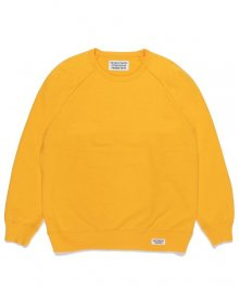 <img class='new_mark_img1' src='https://img.shop-pro.jp/img/new/icons8.gif' style='border:none;display:inline;margin:0px;padding:0px;width:auto;' />WACKOMARIA<BR> WASHED HEAVY WEIGHT CREW NECK SWEAT SHIRT ( TYPE-1 ) (YELLOW)