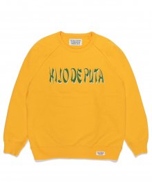 <img class='new_mark_img1' src='https://img.shop-pro.jp/img/new/icons8.gif' style='border:none;display:inline;margin:0px;padding:0px;width:auto;' />WACKOMARIA<BR> WASHED HEAVY WEIGHT CREW NECK SWEAT SHIRT ( TYPE-4 ) (YELLOW)