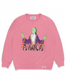 <img class='new_mark_img1' src='https://img.shop-pro.jp/img/new/icons49.gif' style='border:none;display:inline;margin:0px;padding:0px;width:auto;' />WACKOMARIA<BR> WASHED HEAVY WEIGHT CREW NECK SWEAT SHIRT ( TYPE-3 ) (PINK) 【SOLD OUT】