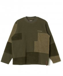 <img class='new_mark_img1' src='https://img.shop-pro.jp/img/new/icons8.gif' style='border:none;display:inline;margin:0px;padding:0px;width:auto;' />White<BR>Mountaineering<BR>PATCHWORK FLEECE CREWNECK (KHAKI)
