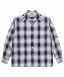 <img class='new_mark_img1' src='https://img.shop-pro.jp/img/new/icons8.gif' style='border:none;display:inline;margin:0px;padding:0px;width:auto;' />WACKOMARIA<BR> OMBRAY CHECK OPEN COLLAR SHIRT ( TYPE-2 ) (PURPLE)