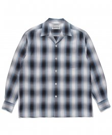 <img class='new_mark_img1' src='https://img.shop-pro.jp/img/new/icons8.gif' style='border:none;display:inline;margin:0px;padding:0px;width:auto;' />WACKOMARIA<BR> OMBRAY CHECK OPEN COLLAR SHIRT ( TYPE-2 ) (BLUE)