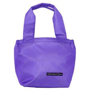 バスケットトート Sサイズ メッシュ (Purple/White)