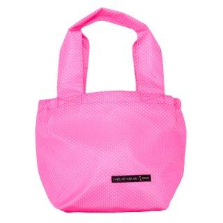 バスケットトート Sサイズ メッシュ (Pink/White)