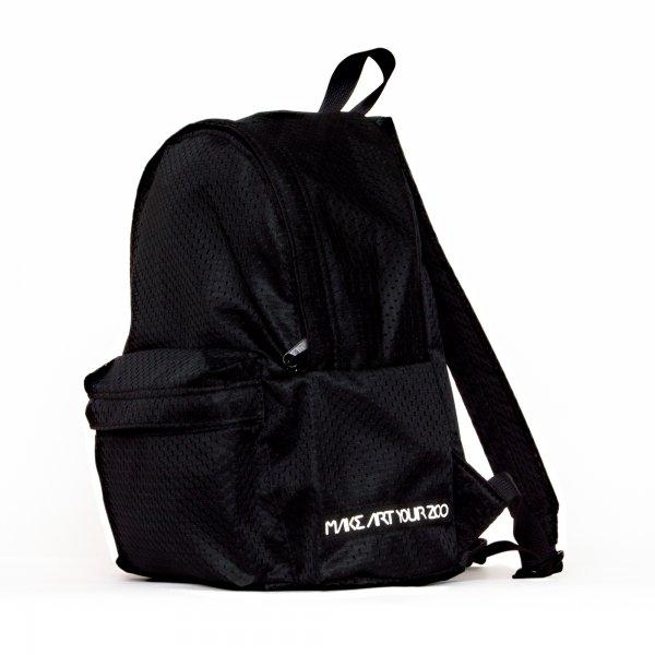 8e2a073f265f ミニメッシュリュック (All Black) - 軽いユニセックスのバッグ通販 ...