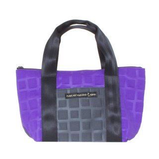 TOTE BAG  S 3D-GEO ■ (Purple/Charcoal)