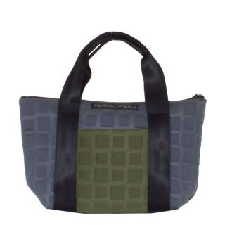TOTE BAG  S 3D-GEO ■ (Olive/Charcoal)