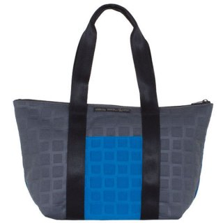 TOTE BAG  M 3D-GEO ■  (Blue/Charcoal)