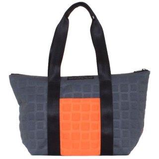 TOTE BAG  M 3D-GEO ■ (Orange/Charcoal)