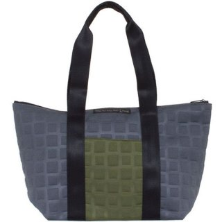 TOTE BAG  M 3D-GEO ■ (Olive/Charcoal)