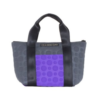 TOTE BAG  S 3D-GEO ● (Purple/Charcoal)