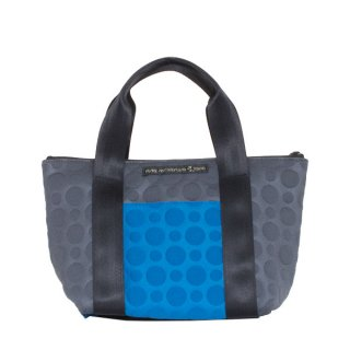 TOTE BAG  S 3D-GEO ● (Blue/Charcoal)