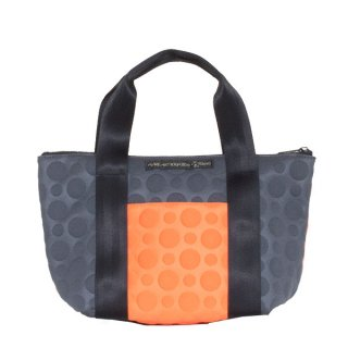 TOTE BAG  S 3D-GEO ● (Orange/Charcoal)
