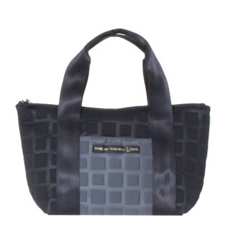 TOTE BAG  S 3D-GEO ■ (Black/Charcoal)
